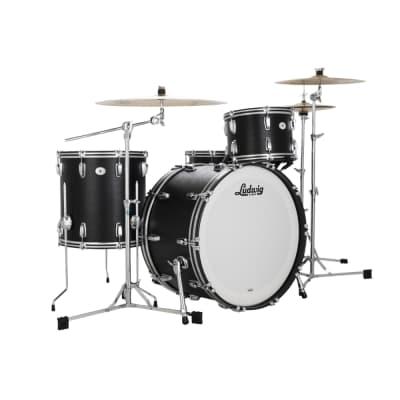 "Ludwig LLC5443LXBC Legacy Mahogany ""Black Cat"" Pro Beat Outfit 9x13 / 16x16 / 14x24"" Drum Set"