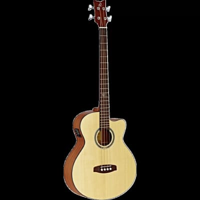 Ortega Guitars D-538-4 Deep Series 4 String Acoustic Bass Mahogany/Spruce Open Pore for sale