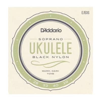 D'Addario Pro-Arté Soprano Ukulele Black Nylon EJ53S