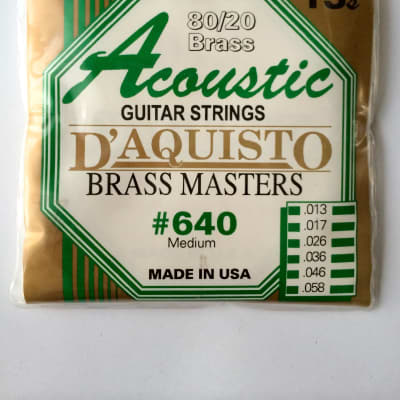 D'Aquisto ACOUSTIC BRASS MASTERS 640M