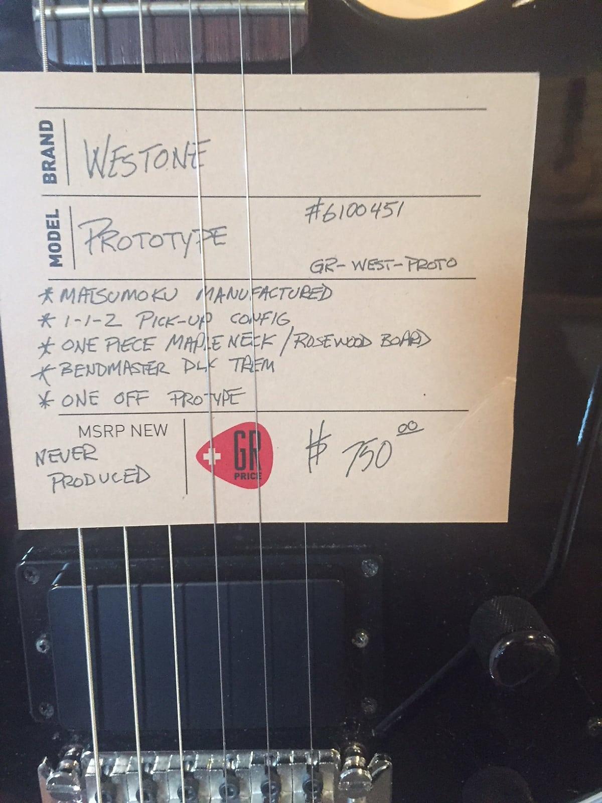 westone - Westone Prototype at Reverb Tsgns1sbigyd1mbzkccn