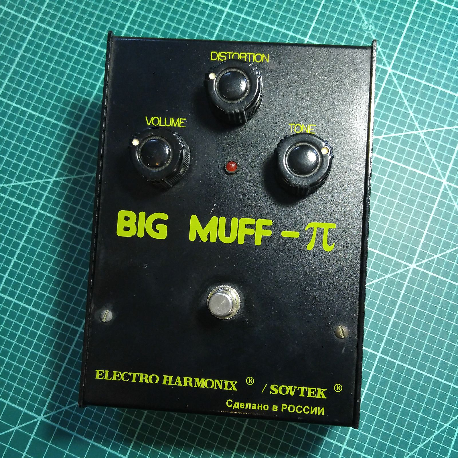 Electro-Harmonix Big Muff Pi Black Russian Bubble Font 7D 1998-2000