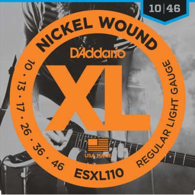 D'Addario ESXL110 Nickel Wound, Regular Light, Double BallEnd Guitar String, 10-46