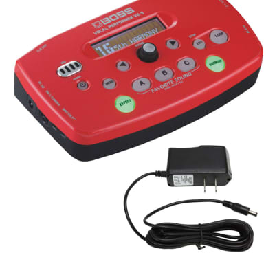 Boss VE-5 Vocal Performer Red & PigHog PP9V DC 1000ma Power Supply