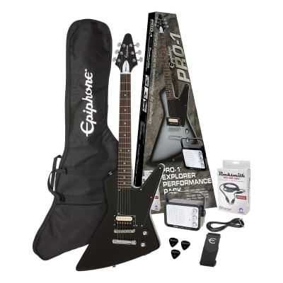 PRO-1 EXPLORER PACK Ebony Epiphone for sale
