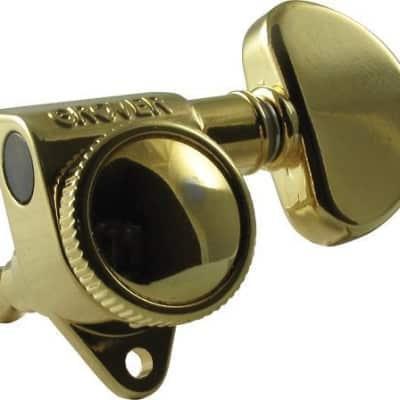 Grover Roto Grip Locking Rotomatics, Set of 6, 18:1 Ratio, Gold Finish, 502G