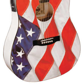 Indiana USA-1CE Dreadnought USA Flag Spruce Top Mahogany Back&Side 6-String Acoustic-Electric Guitar for sale