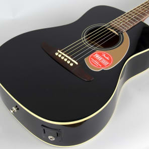 Store Demo | Fender Malibu Player Small Body Acoustic Guitar | Jetty Black for sale