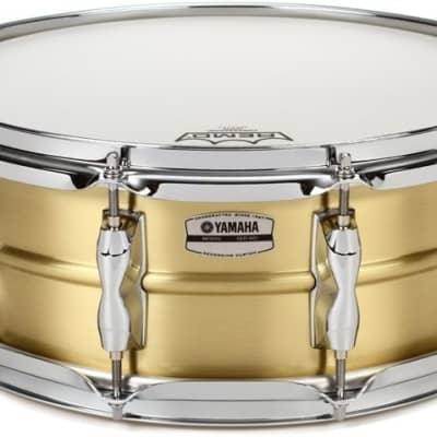 "Yamaha RRS-1455 Recording Custom 5.5x14"" Brass Snare Drum"