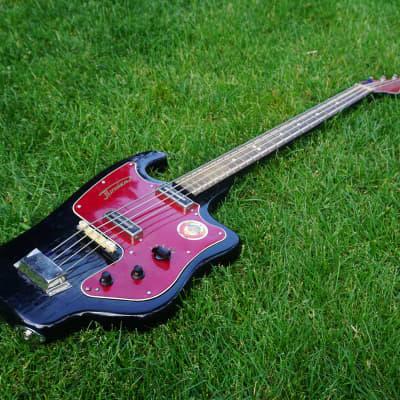 Tonika Vintage USSR Soviet Made Bass Guitar 1970s Black for sale