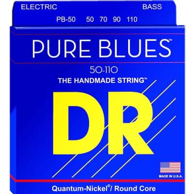 DR PB50 Pure Blues 4 Set Bass Guitar Strings, .050 -.110