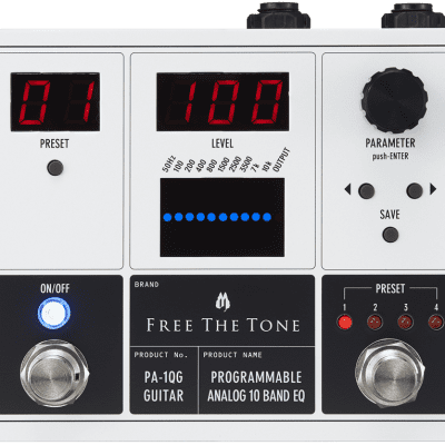 Free the Tone - PA-1QG - PROGRAMMABLE Analog 10 band EQ for Electric Guitar