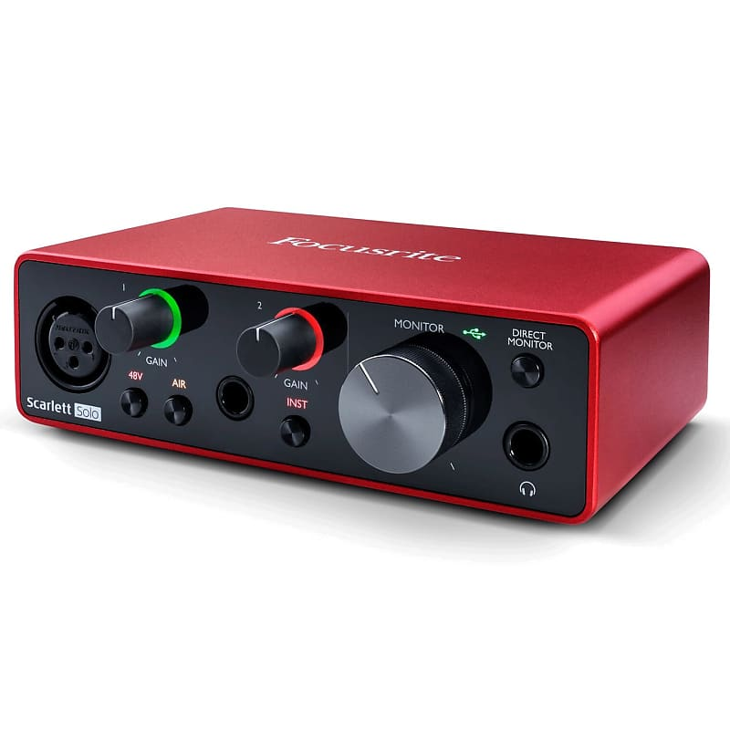 FOCUSRITE SCARLETT SOLO PRO TOOLS; Auth Dealer USB AUDIO INTERFACE 2ND GEN