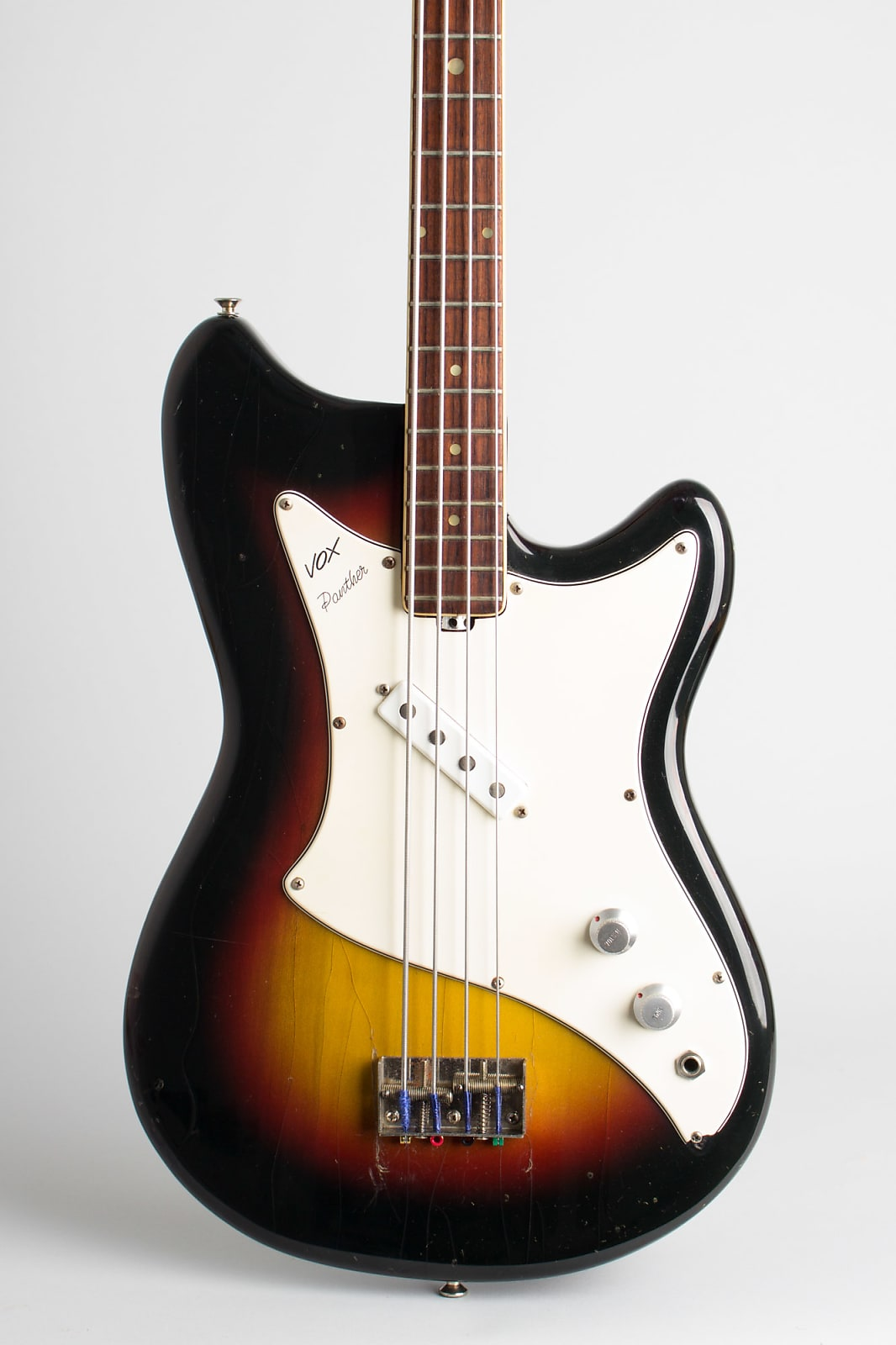 Vox  Panther Solid Body Electric Bass Guitar (1966), original grey hard shell case.