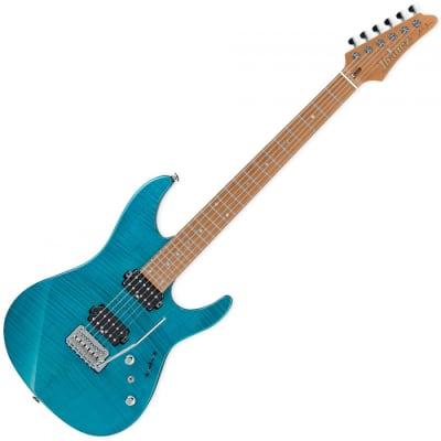 Ibanez MM1-TAB Martin Miller Signature 6 String Electric Guitar - Transparent Aqua Burst