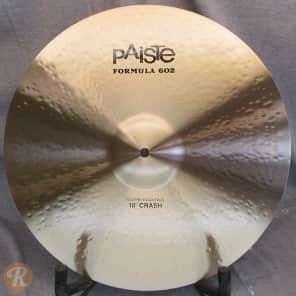 "Paiste 18"" Formula 602 Modern Essentials Crash Cymbal Traditional"