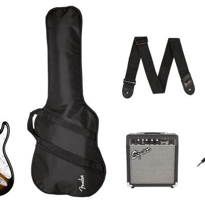 Fender Stratocaster Pack, Laurel Fingerboard, Brown Sunburst, Gig Bag, 10G - 120V for sale