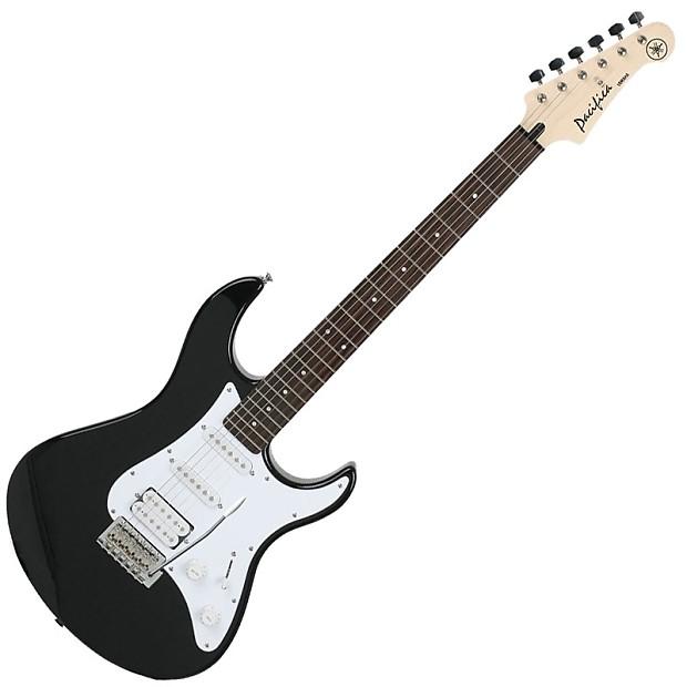 Black Yamaha PAC012 Pacifica Double-Cutaway Electric Guitar
