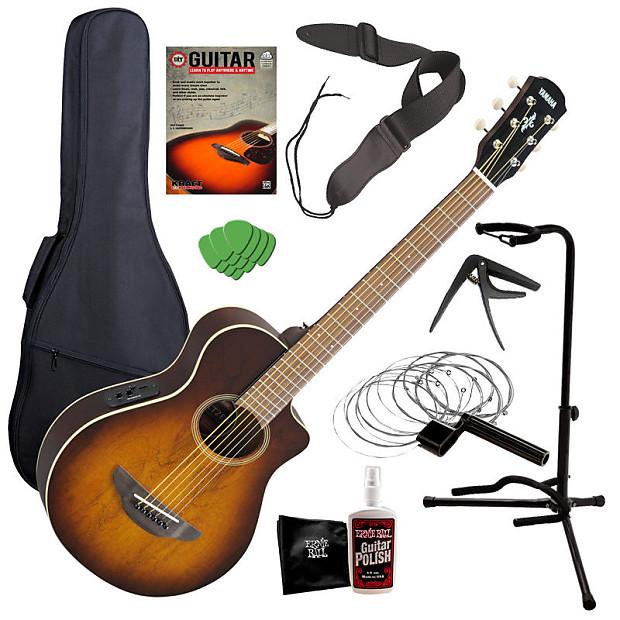 yamaha apxt2ew 3 4 ac el guitar tobacco sunburst complete reverb. Black Bedroom Furniture Sets. Home Design Ideas