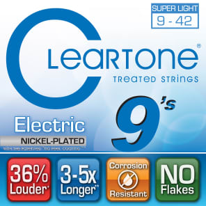 Cleartone Extra-Light Coated Electric Strings