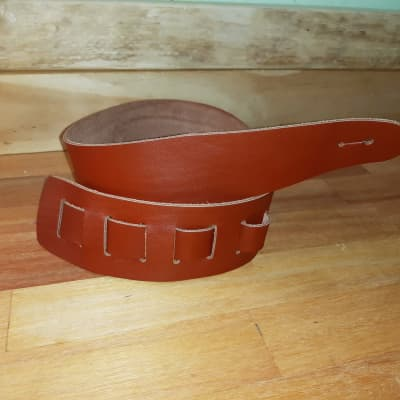 Guitar Strap Full Leather, Australian Made, 2020 Copper