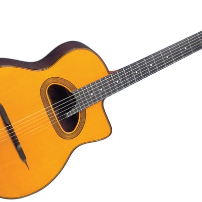 Gitane D-500 Solid Sitka Spruce Top, D Hole Maccaferri-Style Professional Gypsy Jazz Guitar for sale