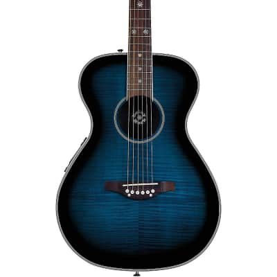 Daisy Rock Pixie Acoustic-Electric Guitar Regular Blueberry Burst for sale