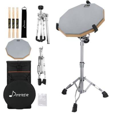 Drum Practice Pad Set with Drum Stand , Drum Sticks and Bag Bundle Full Kit