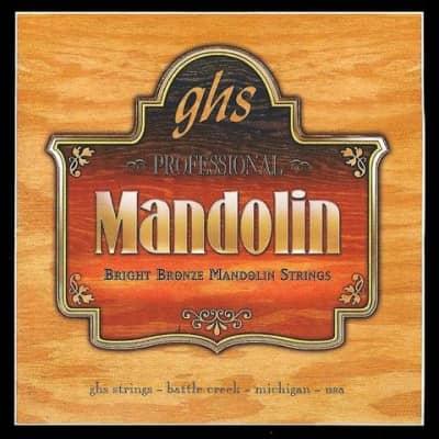 GHS PF250 Bright Bronze Loop End Mandolin Strings - 11-38