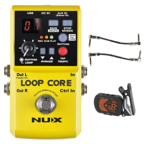 Nux Loop Core Looper Recording Guitar Effects Pedal w/ Tuner + Patch Cables