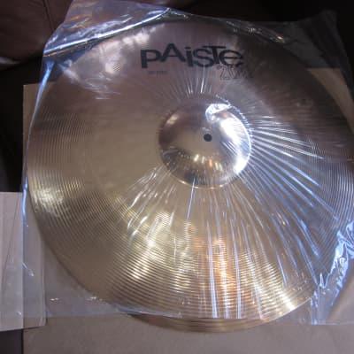 "Paiste 201 Bronze Universal Cymbal Set 14"" Hi-Hat 16"" Crash 20"" Ride"
