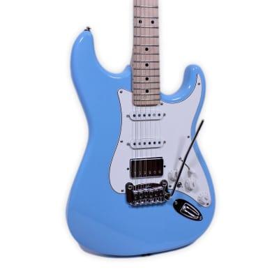 G&L Legacy HB HSS Himalayan Blue Maple Fret-board Electric Guitar B-Stock w/ Warranty