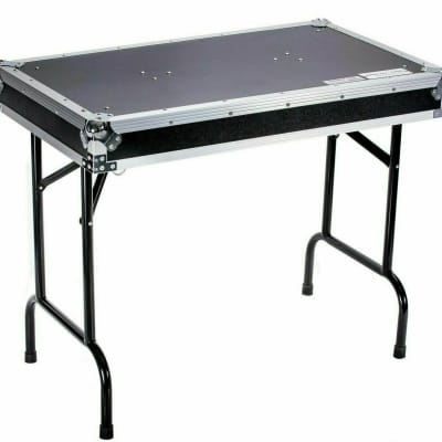 Deejay LED - TBHTABLE - DJ Table with Locking Pins - 36W x 21D x 30H in - Black