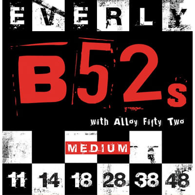 New  Everly  B-52 Rockers Alloy 9211 Medium Electric Guitar Strings (11-48) for sale