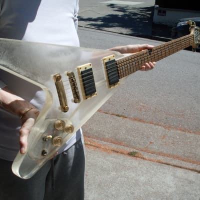 Galveston Clear Acrylic Plastic Flying V for sale