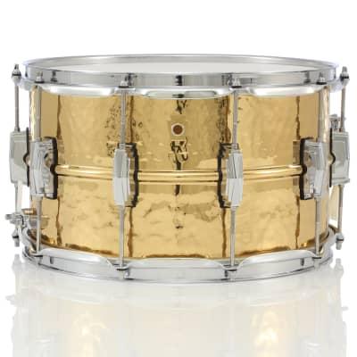 "Ludwig LB508K Hammered Bronze 8x14"" Snare Drum"