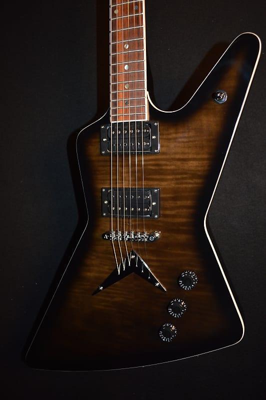 Dean Z 79 Flame Top Trans Black Electric Guitar - Free | Reverb