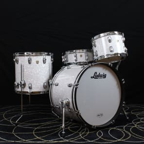 "Ludwig L8303AX Classic Maple 8x12"" / 14x14"" / 14x20"" 3pc Shell Pack w/ ATLAS Mounts and Mini Classic Lugs"