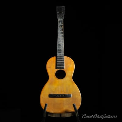 Mid-Late 1800s Antique American Acoustic Parlor Guitar for sale