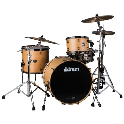 ddrum MAX 324 3-Pc Drum Shell Pack, 8x12 Rack Tom, 14x16 Floor Tom, 14x24 Bass, Satin Natural