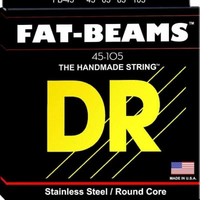 DR Strings Fat Beams FB-45 Bass Strings 45-105