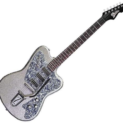 Italia Modena Classic Electric Guitar - Silver for sale