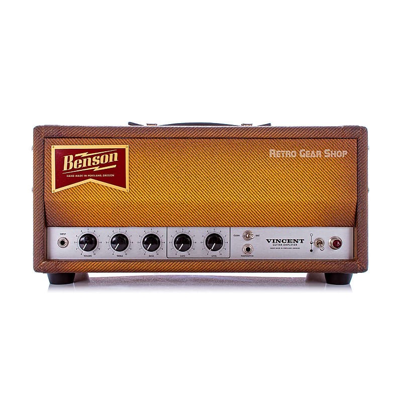benson amps vincent 30 watt head guitar amplifier bourbon reverb. Black Bedroom Furniture Sets. Home Design Ideas