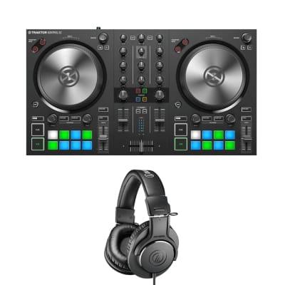 Native Instruments TRAKTOR KONTROL S2 MK3 + Audio-Technica ATH-M20x Monitor Headphones