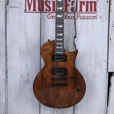 ESP LTD EC-1000 Koa Electric Guitar Seymour Duncan HH Koa Top Natural Gloss