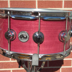 """DW DRU46514SSC 6.5x14"""" Collector's Series 13-Ply Purple Heart Custom Snare Drum"""
