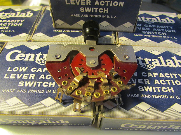 centralab 1454 3 way switch 1950 s nos for broadcaster esquire telecaster nocaster stratocaster