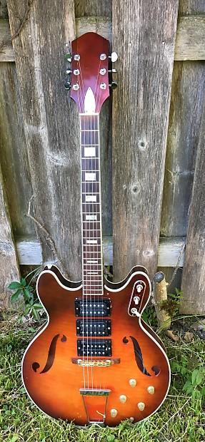 vintage 1967 silvertone harmony h76 electric guitar modded reverb. Black Bedroom Furniture Sets. Home Design Ideas