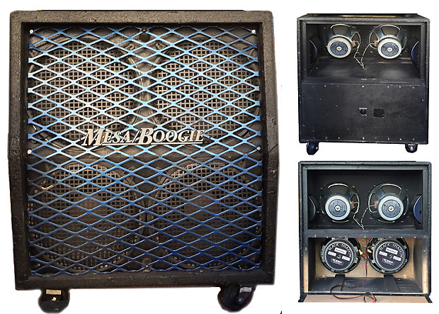 Mesa Boogie early 80's Half Back 4x12 Slanted Cab 2x | Reverb