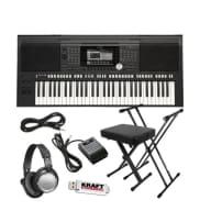 Yamaha PSR-S970 Arranger Workstation Keyboard - Key Essentials Bundle